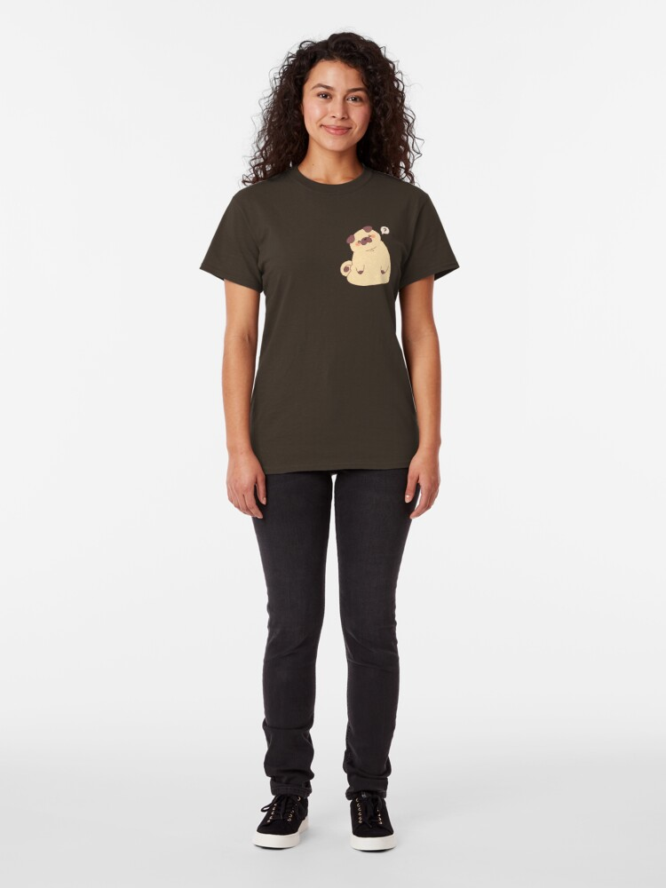 Alternate view of Cute & Confused Chubby Pixel Pug  Classic T-Shirt