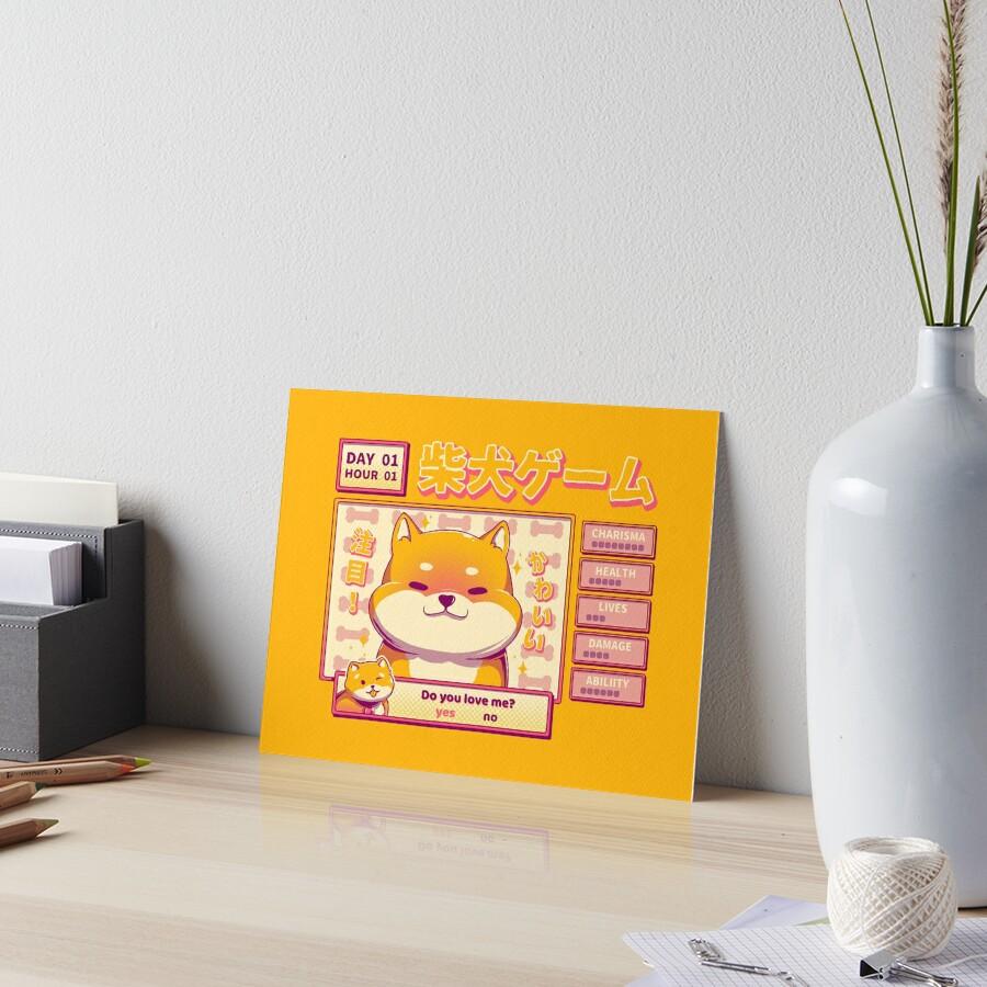 Shiba Novel Art Board Print