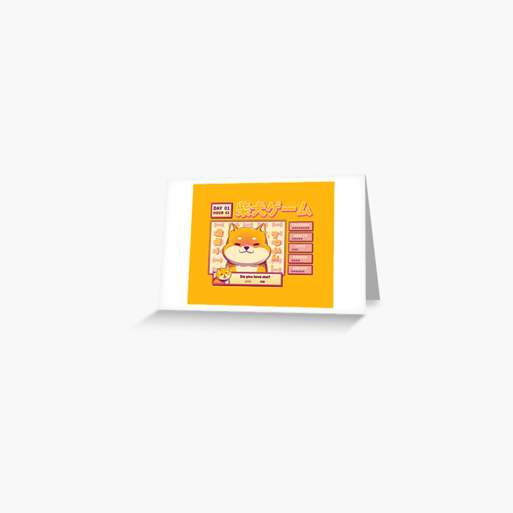 Shiba Novel Greeting Card