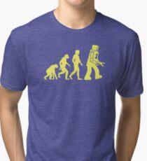 Sheldon Robot Evolution Tri-blend T-Shirt