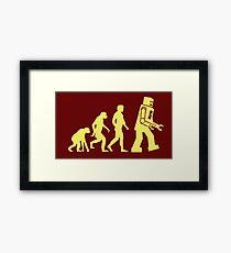 Sheldon Robot Evolution Framed Print