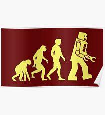 Sheldon Robot Evolution Poster