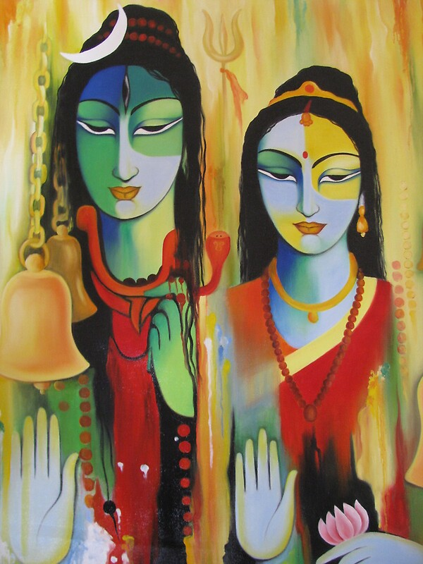 Quot Shiv Parvati Quot By Kirandeep Redbubble