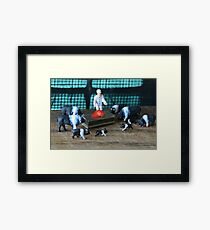"""Petunia had gathered the family around Porky's hospital bed when the doctor announced """"he's cured""""! Framed Print"""