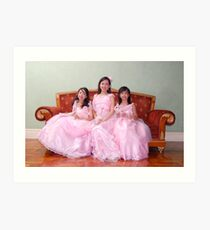 bride's maid and flower girl gown design 3 Art Print