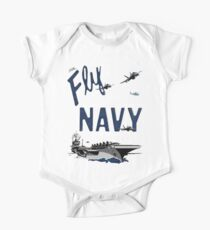 Fly Navy One Piece - Short Sleeve