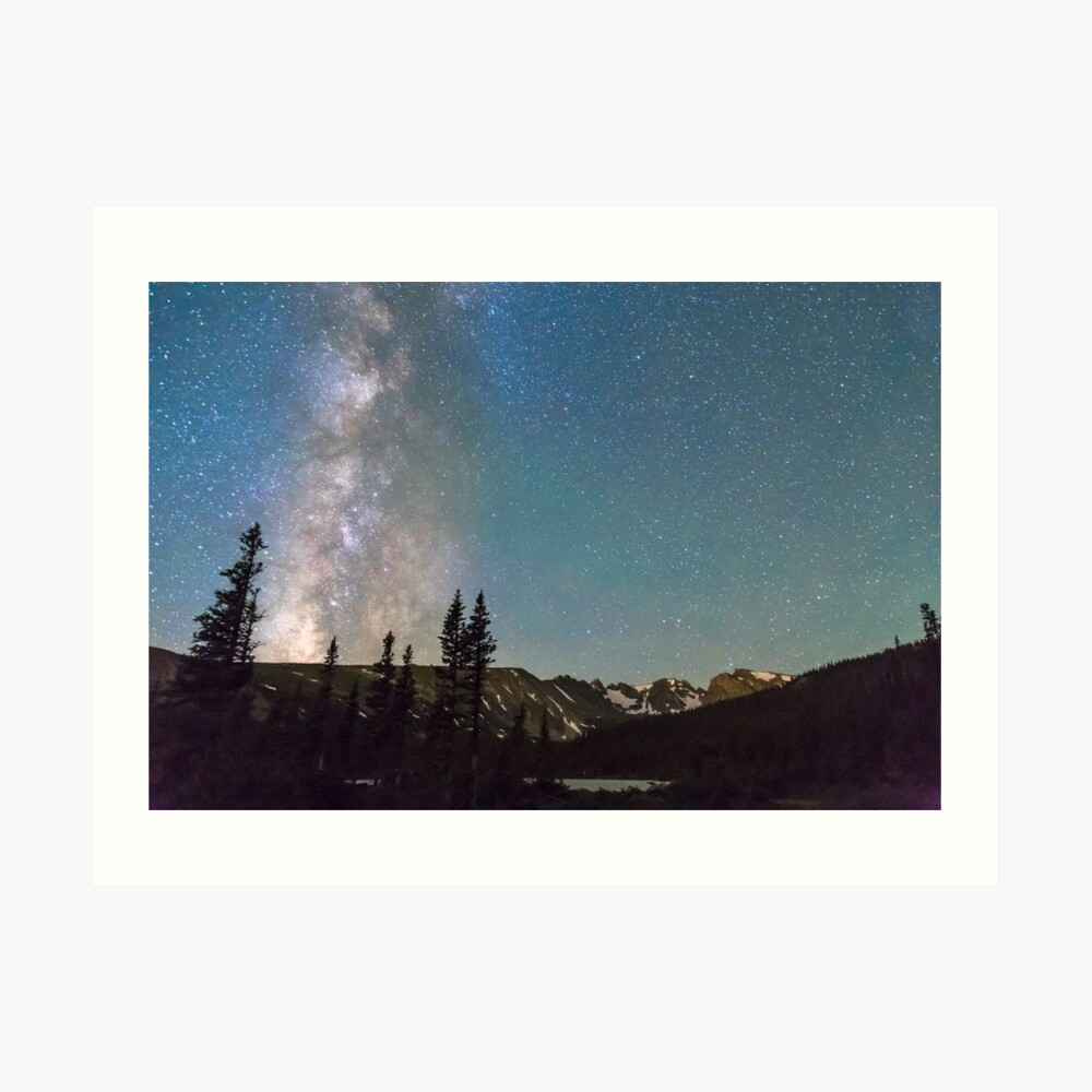 Middle of the Night Milky Way Rocky Mountains Art Print