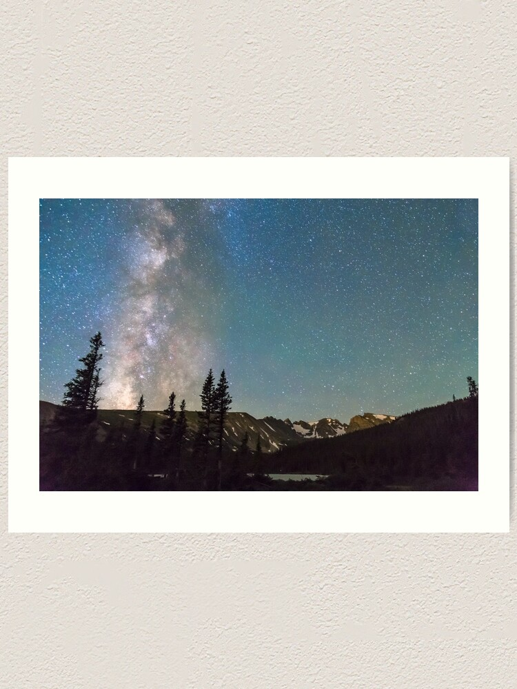Alternate view of Middle of the Night Milky Way Rocky Mountains Art Print