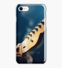 Guitarist on stage iPhone Case/Skin