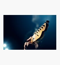 Guitarist on stage Photographic Print