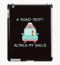 A Road Trip Alpaca I'll Pack My Bags Vakantie Road Trip Tee iPad-Hülle & Klebefolie