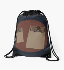 Troy and Abed in SPACE SHIPS Drawstring Bag
