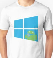 Android eats an Apple through a Window T-Shirt