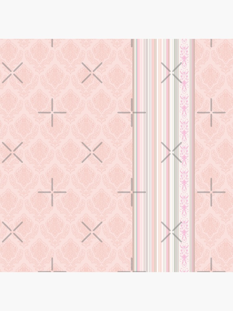 Faux Flock with Contrasting Stripes - Flesh Pink by ifourdezign