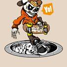 Skate Hip Hop Skull by Chocodole