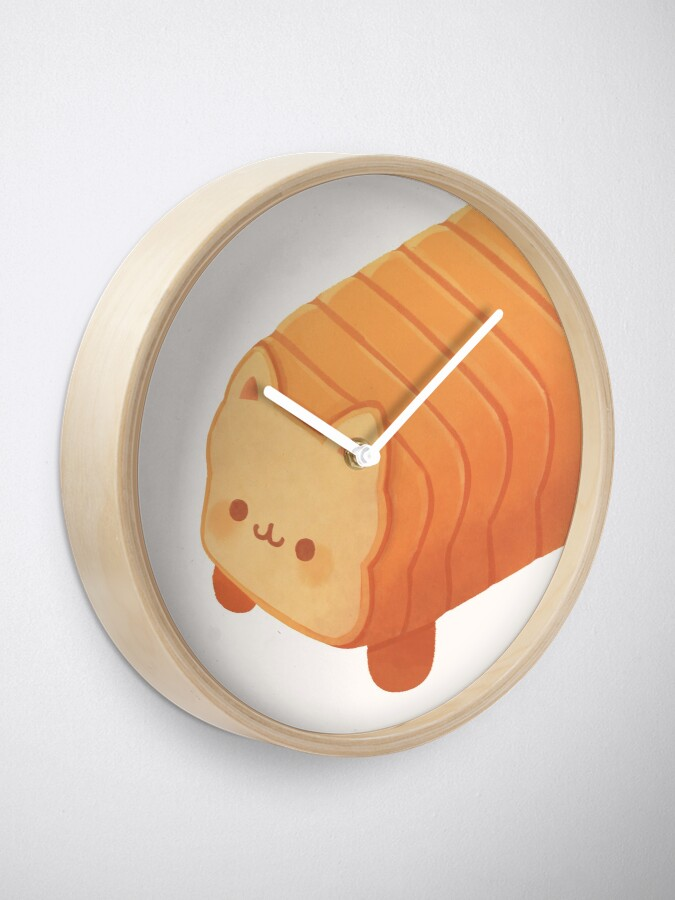 Alternate view of Cat Loaf - Meow Bread Clock