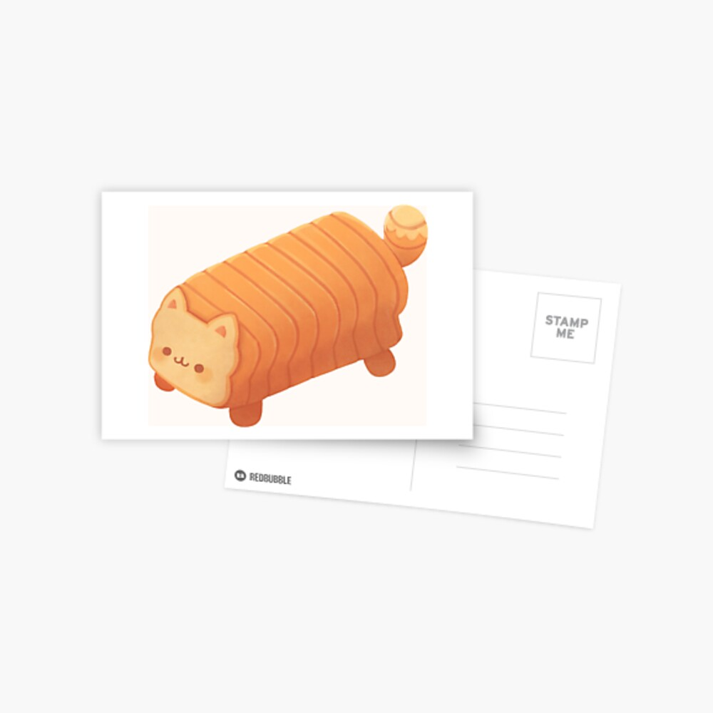 Cat Loaf - Meow Bread Postcard