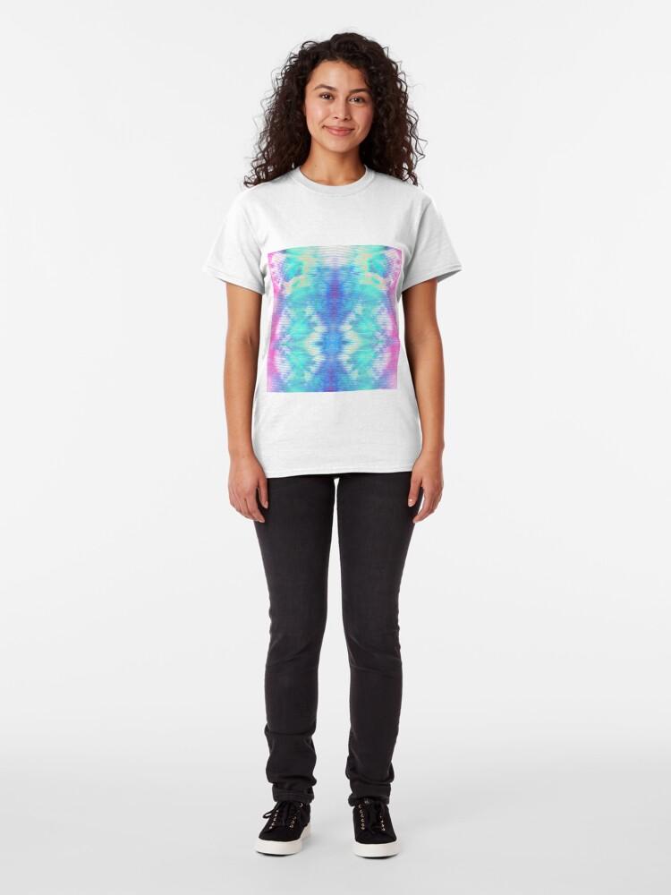 Alternate view of Pastel Rainbow Oxford Shibori Classic T-Shirt