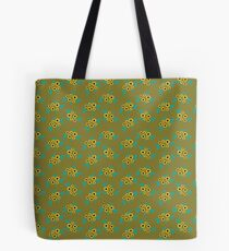 Yellow flower clusters floral pattern on mustard  Tote Bag