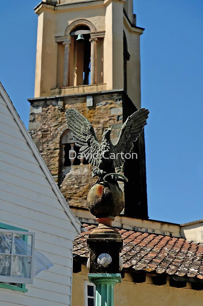 Stone Eagle & Campanile, Portmeirion by David Carton