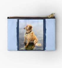 Wet Dog ~ Cooling Off At the Lake Zipper Pouch