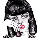 Paper Doll in Thought by Lenora Brown
