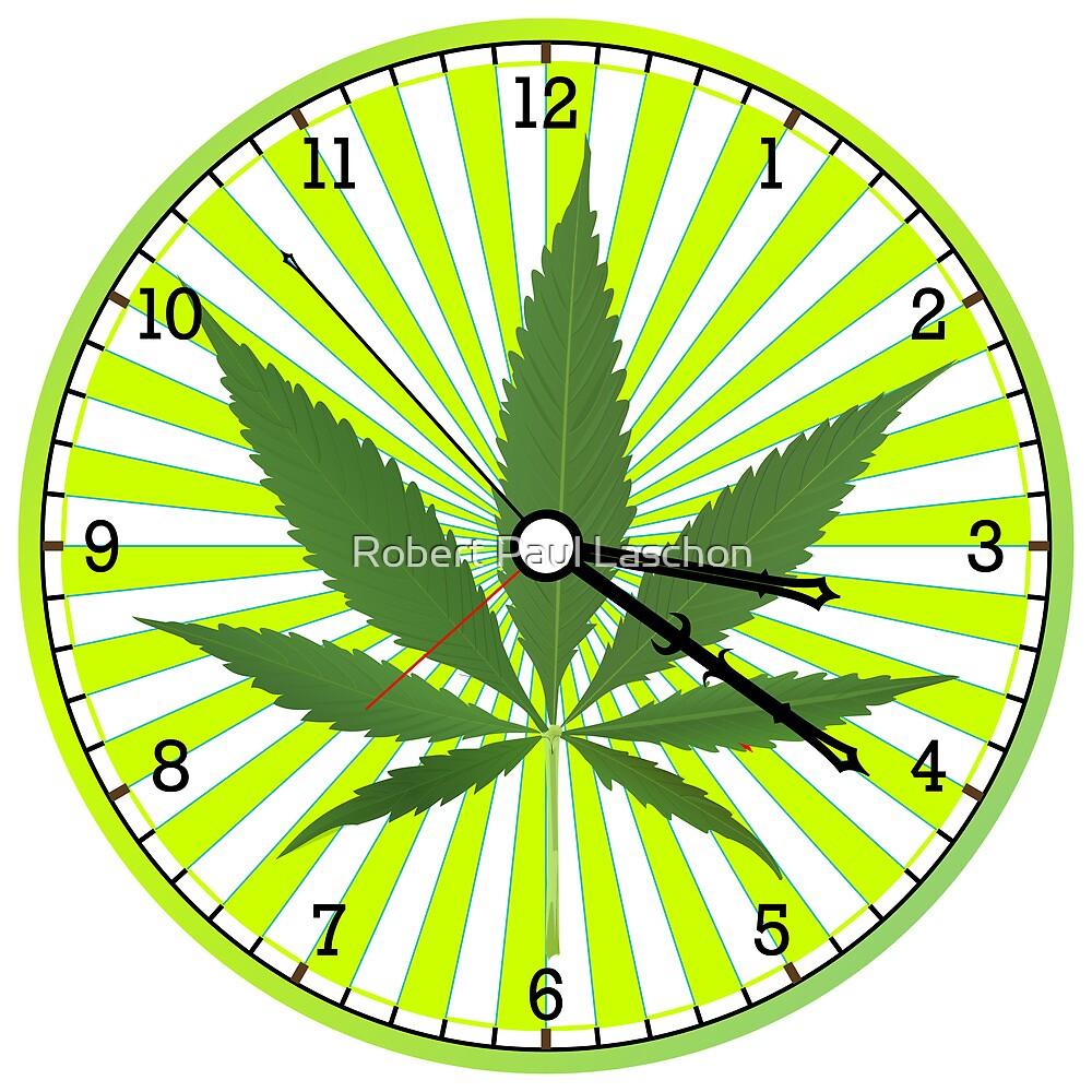 Cannabis clock by Laschon Robert Paul