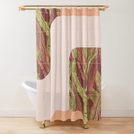 Mid-Century Tropical Style #redbubble #tropical Shower Curtain