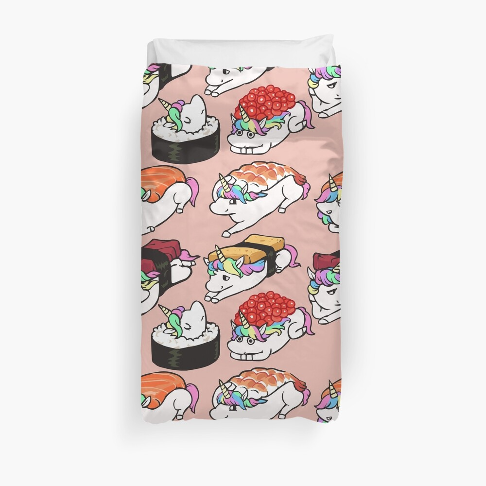Sushi Unicorn Duvet Cover