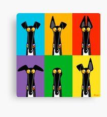 Greyhound Semaphore Canvas Print