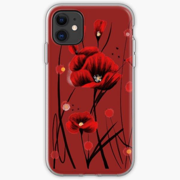 Feurige Mohnblumen iPhone Flexible Hülle