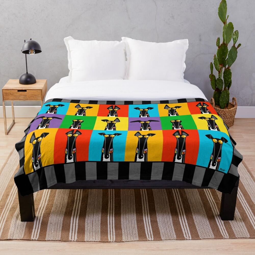 Greyhound Semaphore Throw Blanket