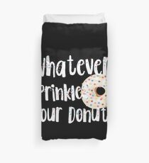 Womens was auch immer spritzt dein lustiges Design der Donuts Bettbezug