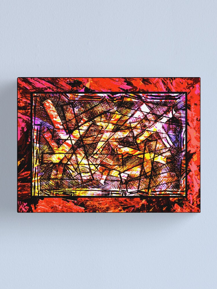 Alternate view of Church Of The Red Hot Chips Canvas Print