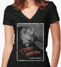 L'Esprit Diabolique Women's Fitted V-Neck T-Shirt