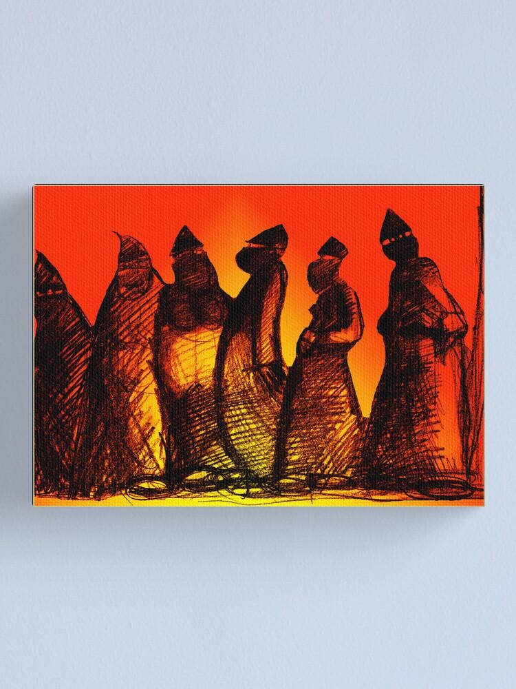 Alternate view of Burkadoodledandies Canvas Print