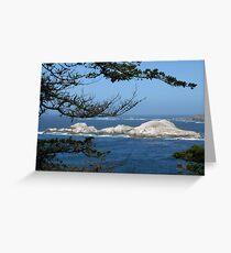 Coastline through Trees Greeting Card