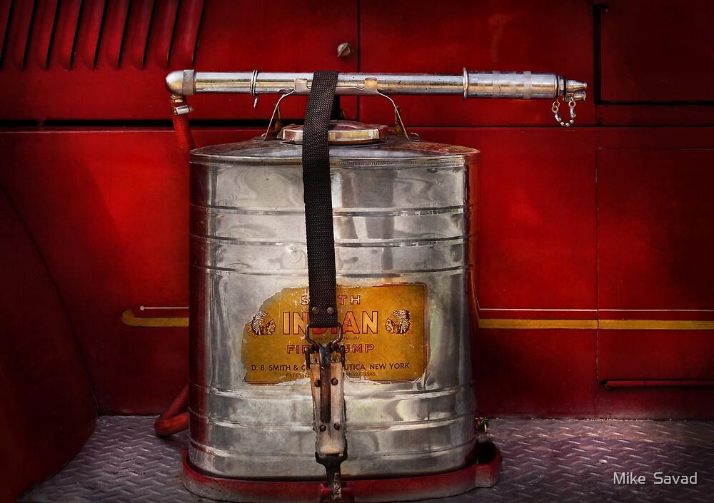 Fireman - Indian Pump  by Michael Savad
