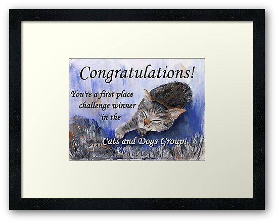 Banner for 1st place challenge winner in Cats and Dogs Group by CarolineLembke