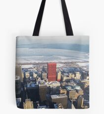 Lonely Red Building Tote Bag