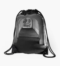 The Secret Passageway  - B&W    ^ Drawstring Bag