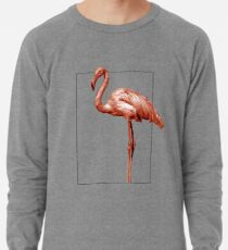 Monochrome - pink flamingo nr 1 Lightweight Sweatshirt