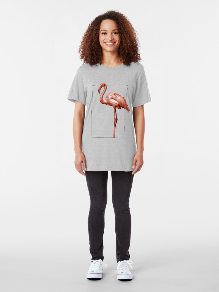 Alternate view of Monochrome - pink flamingo nr 1 Slim Fit T-Shirt