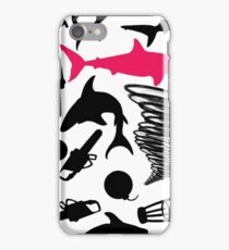 Sharks and Tornados with Bombs, Barstools, and Chainsaws iPhone Case/Skin