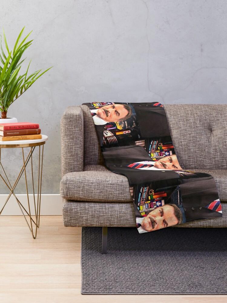 Alternate view of Tom Selleck Throw Blanket