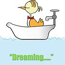 My Bird Is Dreaming In The Bath by robertemerald