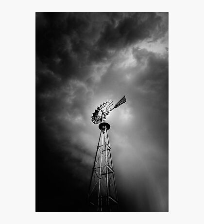 Windmill Attitude Photographic Print