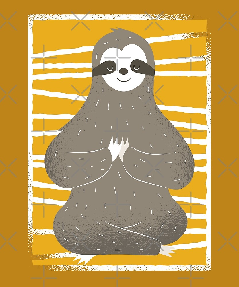Yoga Sloth by angelandspot