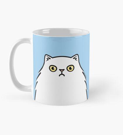 Angry White Persian Kitty Cat Mug