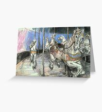Merry-go-round #1 Greeting Card